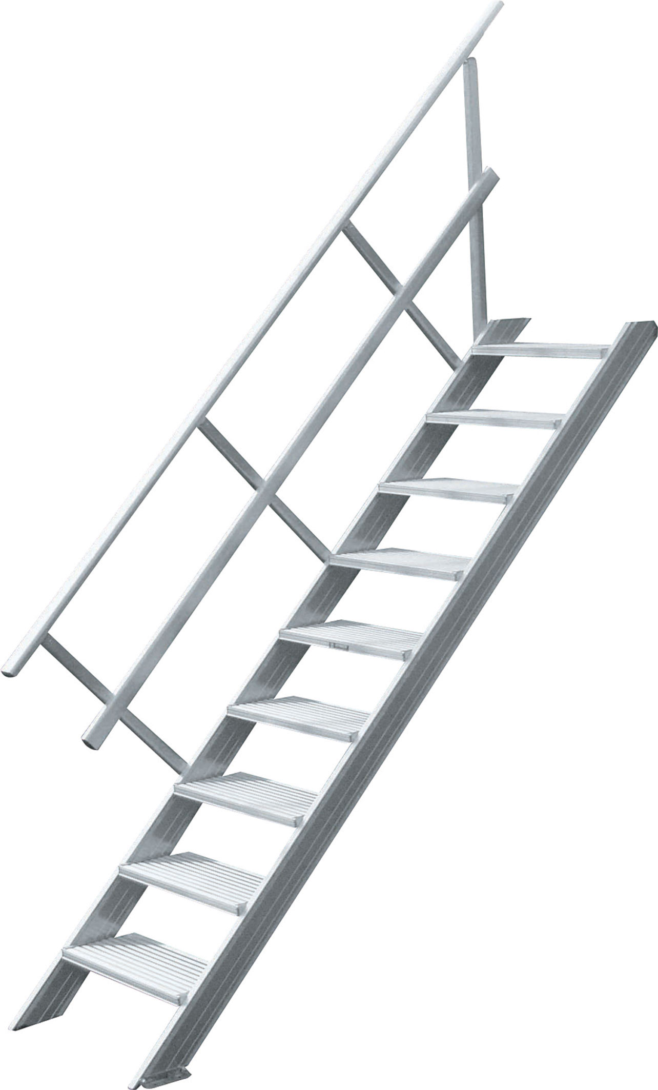Palier d\'escalier aluminium