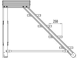 palier d 39 escalier aluminium. Black Bedroom Furniture Sets. Home Design Ideas