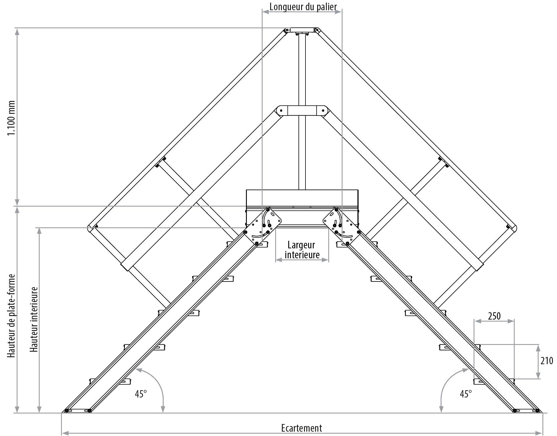 Largeur D Une Marche D Escalier echelle a marche aluminium- construction speciale aluminium